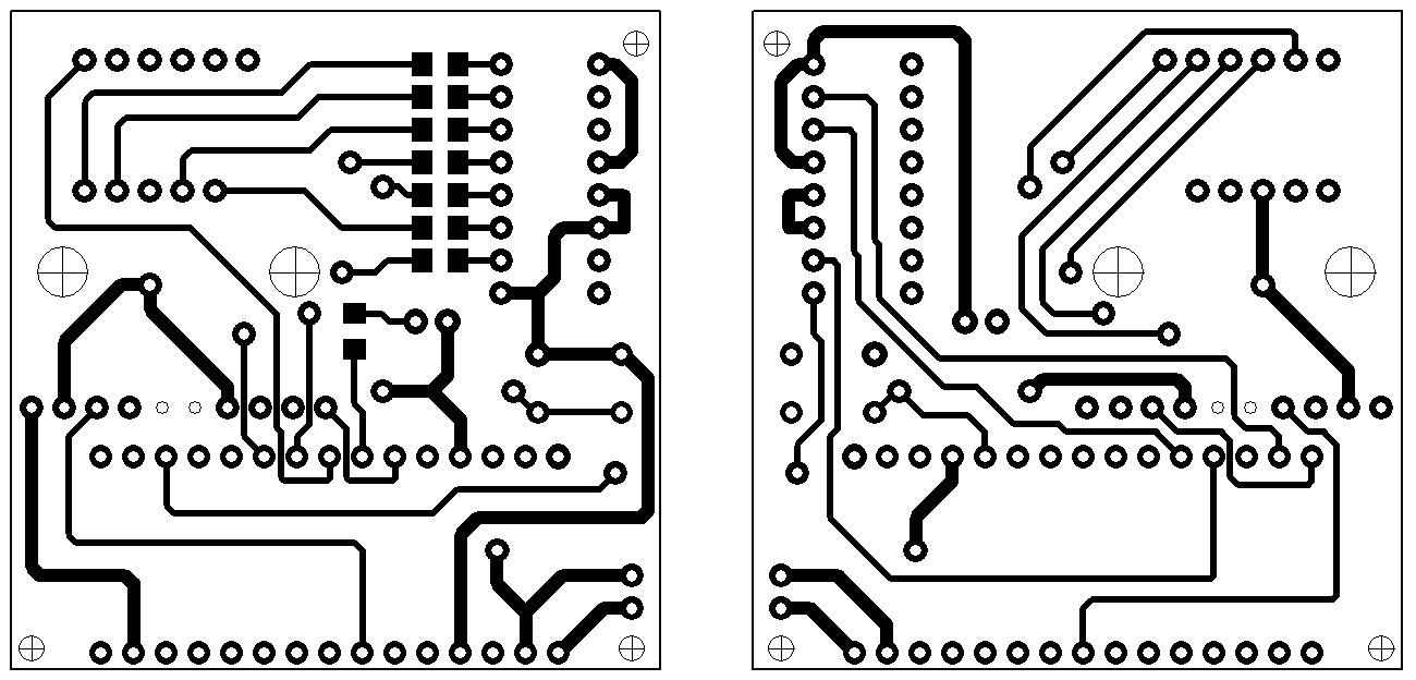 Печатная плата для электронного компаса на Arduino