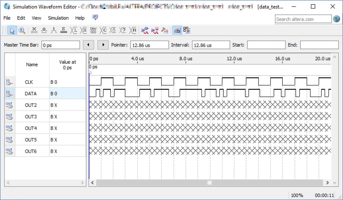 Программа Simulation Waveform Editor