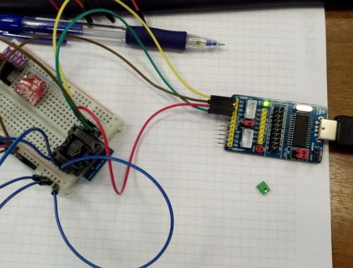 Загрузка и конфигурирование микросхемы CH341 с ПЗУ 24C01