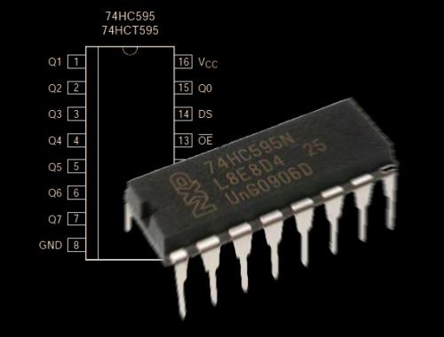 Как подключить сдвиговый регистр 74HC595 к Arduino