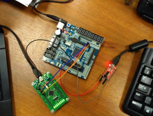 Преобразователь SPI в UART на Verilog