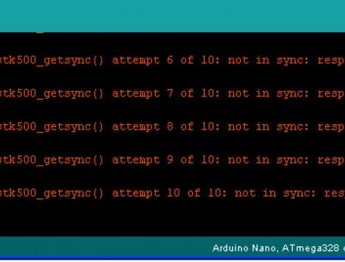 Arduino: что делать при ошибке